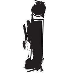 grunge font letter j vector image