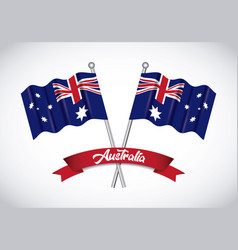 happy australia day background vector image