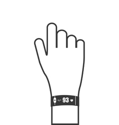 heartrate wrist tracker icon vector image