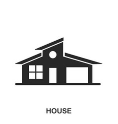 house icon line style icon design ui vector image