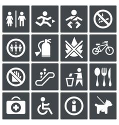 International signs icon set vector