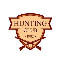 logo for hunter club in brown color vector image