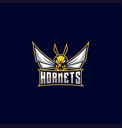 Logo hornets e sport and sport style vector