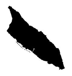 map of aruba vector image
