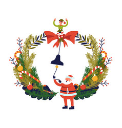 merry christmas winter holiday preparation vector image