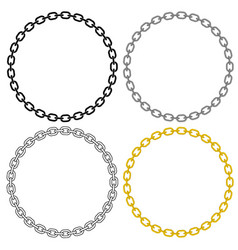 Metal chain link circle vector
