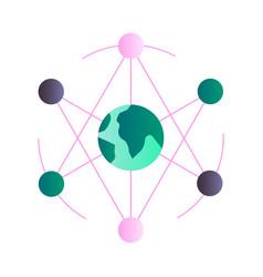 Networking gradient vector
