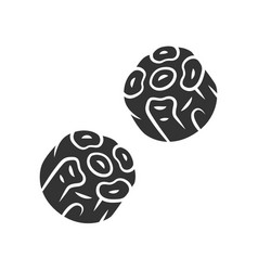 Oxtails glyph icon butchers meat spanish cuisine vector