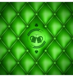 Patrick day beer menu background vector image