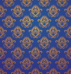Pattern Gold and Blue vector image