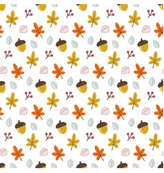 pattern with autumn leaves vector image
