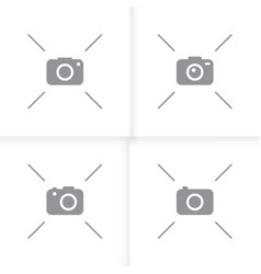 photo camera picture icon flat isolated white vector image