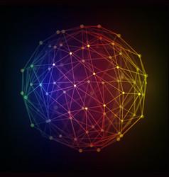 Polygonal 3d globe vector