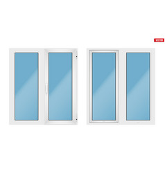 Pvc window with two sash vector