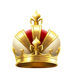 realistic royal crown classic king or prince vector image