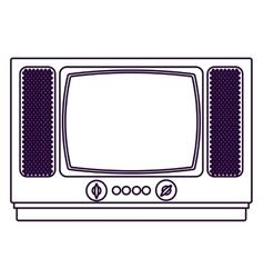 Retro tv technology design vector
