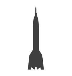 rocket sign black icon on vector image