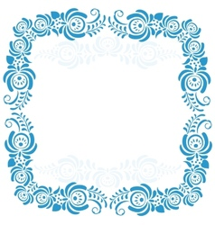 Russian ornaments art frames in gzhel style Gzhel vector