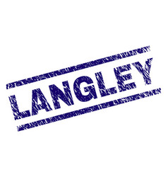 Scratched textured langley stamp seal vector