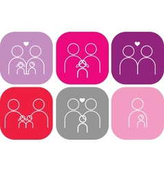 set family icons vector image