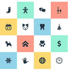 Set of simple house icons vector