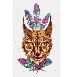 Sketching lynx vector