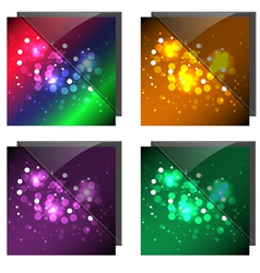 Sparkling colorful backgrounds vector