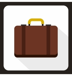 Suitcase icon flat style vector image