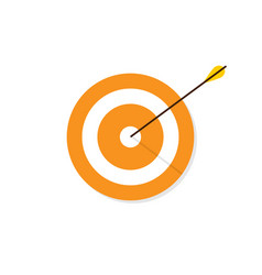 target icon in flat style vector image