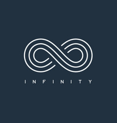 thin line infinity symbol vector image