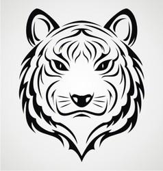 Tiger Face Tattoo vector