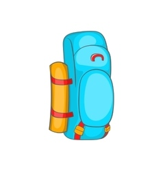 Tourist backpack icon in cartoon style vector image vector image