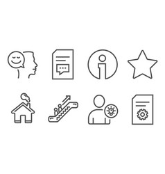 user idea comments and good mood icons star vector image