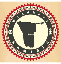 Vintage label-sticker cards of namibia vector