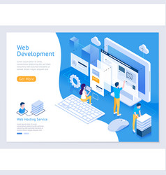 Web design and development isometric vector