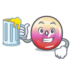 with juice jelly ring candy mascot cartoon vector image