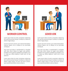 Working control and good job posters boss task vector