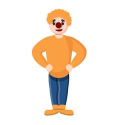 yellow clown icon cartoon style vector image
