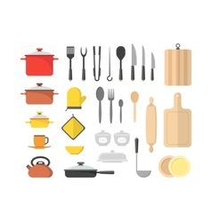 Cartoon Cookware Set vector image vector image
