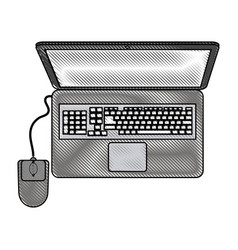 Color blurred stripe of top view laptop computer vector
