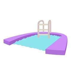 Pool icon cartoon style vector