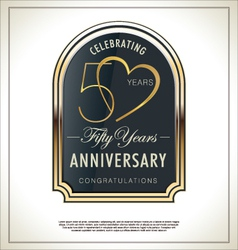 50 years Anniversary label vector image vector image