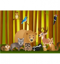 animal cartoon vector image vector image