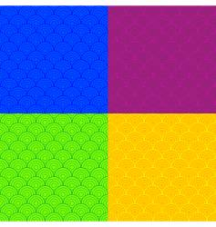 colored scales vector image vector image