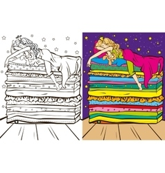 Colouring Book Of Sleeping Beauty vector image vector image