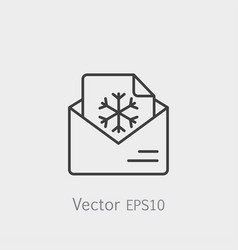 email postcard letter xmas christmas snowflake vector image vector image