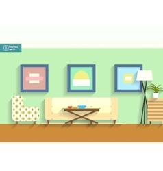 Flat interior room vector image