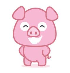 funny pig animal vetcor art vector image