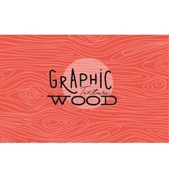 Graphic wood texture coral vector image