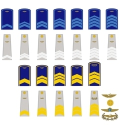 Insignia in RF civil aviation vector image